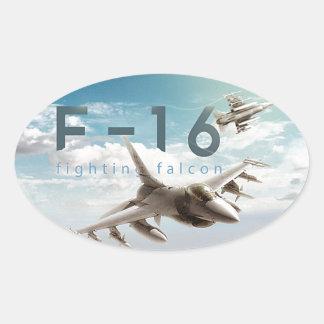 Adesivo Oval Falcão F-16 de combate