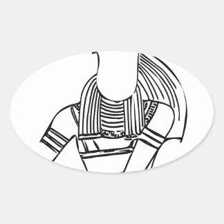 Adesivo Oval Faraó 1 do escaravelho