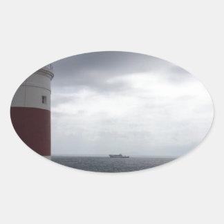 Adesivo Oval Farol de Gibraltar