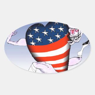 Adesivo Oval fernandes tony altos e orgulhosos de North Dakota,