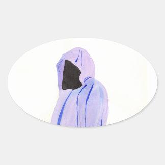 Adesivo Oval Figura Cloaked