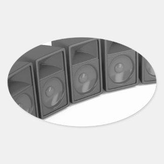Adesivo Oval Fileira dos auto-falante