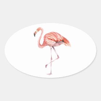 Adesivo Oval Flamingo cor-de-rosa