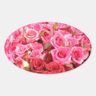 Adesivo Oval Flores nas Filipinas, no rosa e nas rosas