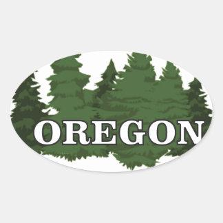 Adesivo Oval Floresta de Oregon