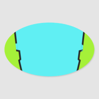 Adesivo Oval Fones de ouvido vestindo-se coloridos
