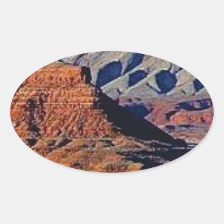 Adesivo Oval formas naturais do deserto