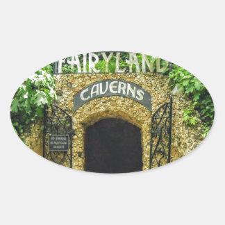 Adesivo Oval Fotografia da natureza das cavernas do Fairyland