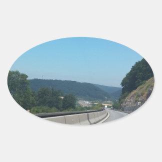 Adesivo Oval Fotografia de Europa Áustria das montanhas do