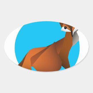 Adesivo Oval Fox