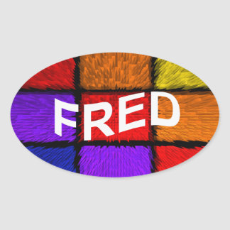 ADESIVO OVAL FRED
