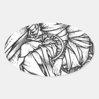 Adesivo Oval Frey assentou no trono de Odin