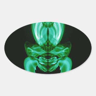 Adesivo Oval Fumo estranho (20) .JPG