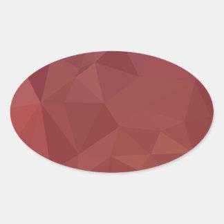 Adesivo Oval Fundo do polígono do abstrato do roxo do amaranto