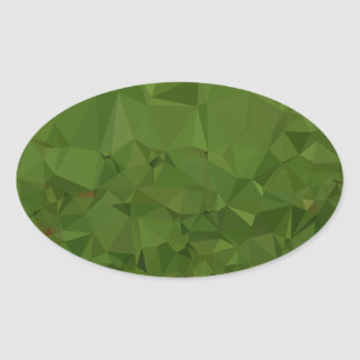 Adesivo Oval Fundo do polígono do abstrato do verde da