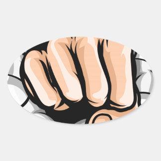 Adesivo Oval Furo de perfuração do punho