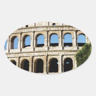 Adesivo Oval furos e arcos