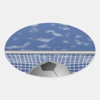 Adesivo Oval Futebol