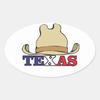 Adesivo Oval gajo texas