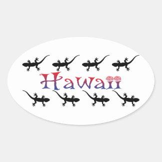 Adesivo Oval gecos do hawai