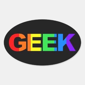 Adesivo Oval Geeky e panasca como