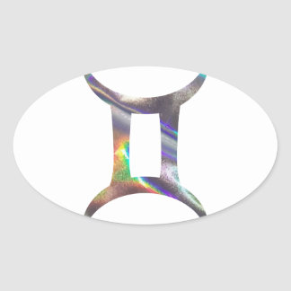 Adesivo Oval Gêmeos do holograma