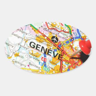 Adesivo Oval Geneve, Genebra, suiça