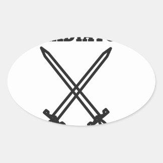 Adesivo Oval Gladiador