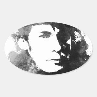 Adesivo Oval Glenn Gould