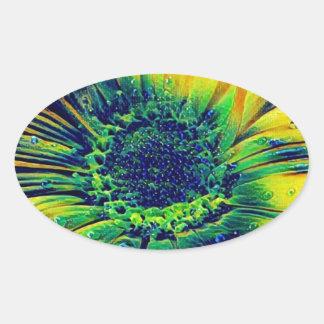 Adesivo Oval Gotas criativas