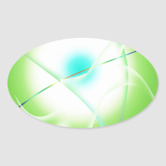 Adesivo Oval gráficos abstratos