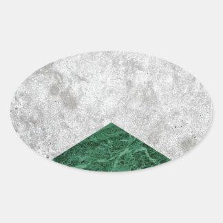 Adesivo Oval Granito concreto #412 do verde da seta