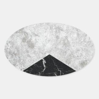 Adesivo Oval Granito concreto #844 do preto da seta