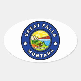 Adesivo Oval Great Falls Montana