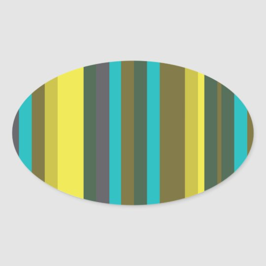 Adesivo Oval Green_stripes