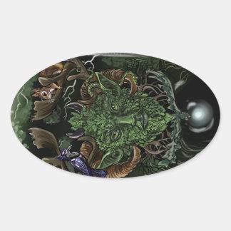 Adesivo Oval GreenMan