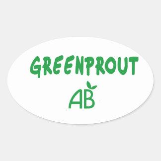 Adesivo Oval Greenprout ecológico