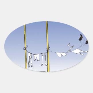 Adesivo Oval Grelha - dia da lavagem, fernandes tony