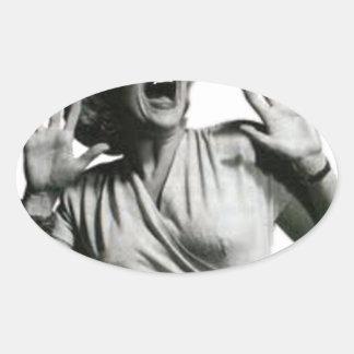 Adesivo Oval Gritador do filme de terror