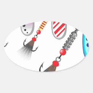 Adesivo Oval Grupo aleatório de vetor diferente das cores dos