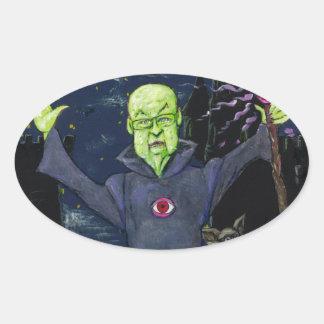 Adesivo Oval Guaxinins do feiticeiro e do mau