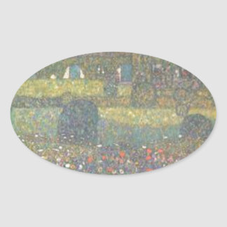 Adesivo Oval Gustavo Klimt - casa de campo pela arte de