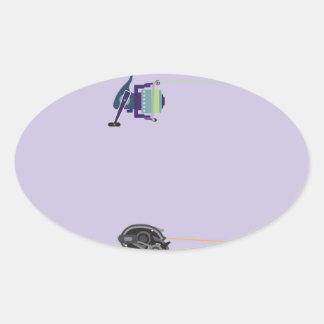 Adesivo Oval Hastes de giro e baitcasting com punhos dos
