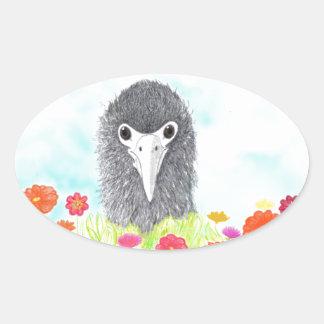 Adesivo Oval Haulani o pintinho do albatroz