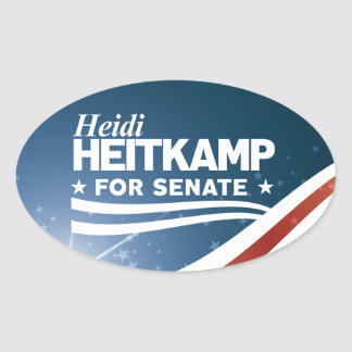 Adesivo Oval Heidi Heitkamp para o Senado