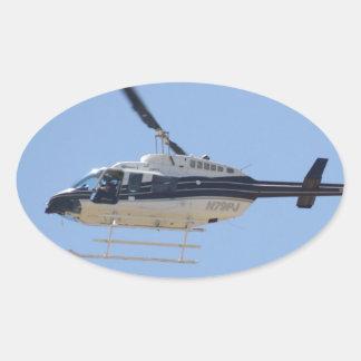 Adesivo Oval Helicóptero