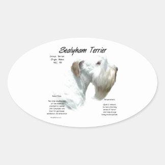 Adesivo Oval História de Sealyham Terrier
