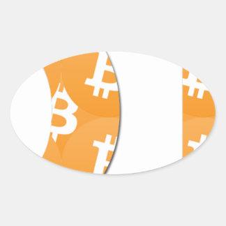 Adesivo Oval Hodl Bitcoin