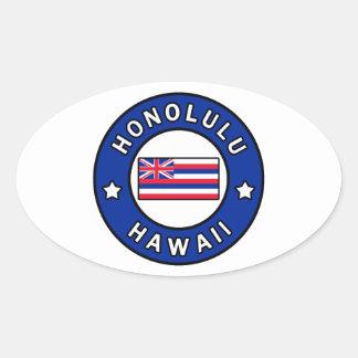 Adesivo Oval Honolulu Havaí