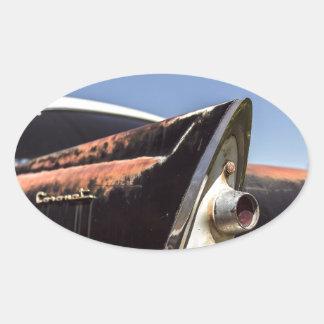 Adesivo Oval Hot rod